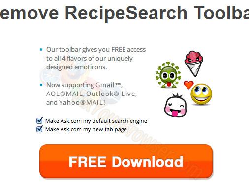 Come rimuovere RecipeSearch Toolbar