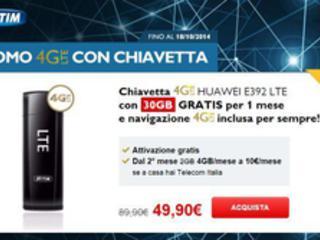 TIM: chiavetta 4G LTE con 30 Giga in offerta a 50 euro