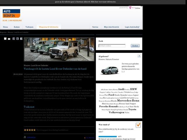 Nieuws: Land Rover Defender - Vandaag rolt de laatste Land Rover Defender van de band