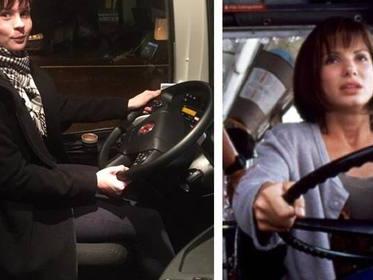 Пассажирке пришлось сесть за руль автобуса Ecolines Таллин - Рига вместо пьяного водителя