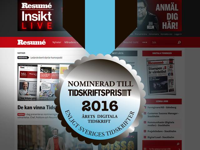 Resumé kan bli Årets digitala tidskrift