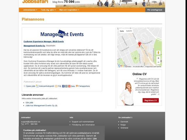 Customer Experience Manager, BtoB Events, Management Events Oy