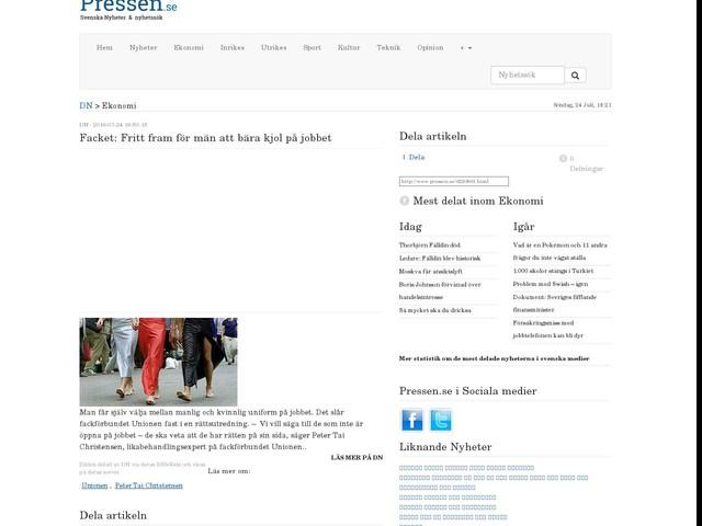 Facket: Fritt fram för män att bära kjol på jobbet