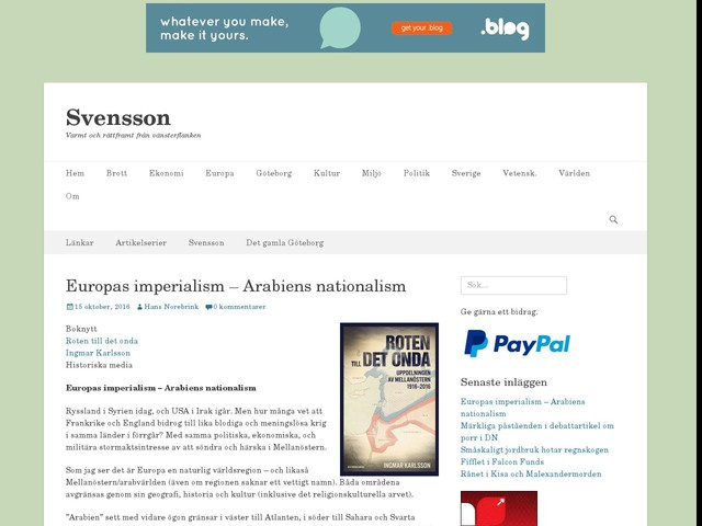 Europas imperialism – Arabiens nationalism