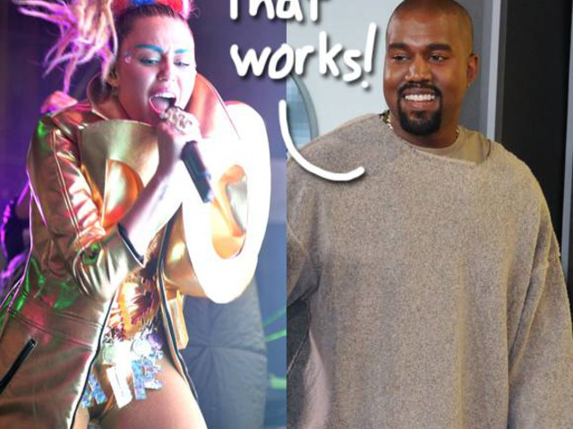 The Miley Cyrus Remix Of Kanye West's Black Skinhead Is Too '80s To Live! Listen To The Leaked Track HERE!