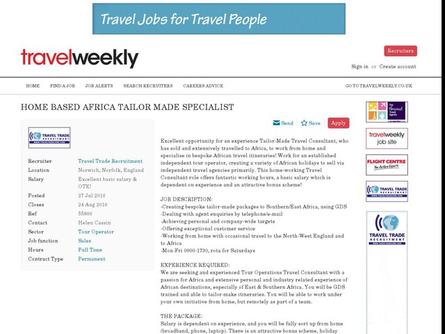 Travel Agency Startup Business Plan