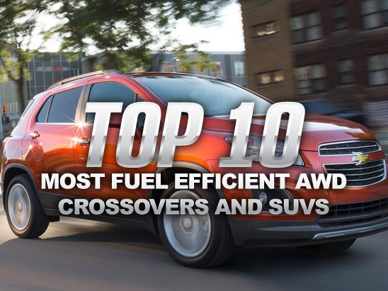 Top 10 Most Fuel Efficient AWD Crossovers and SUVs