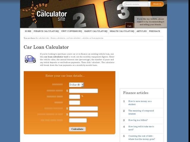 calculator loans car anygatorcom