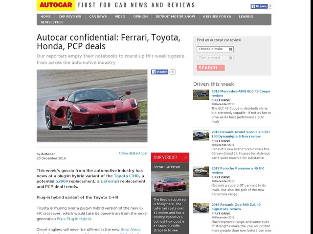 Pcp Deals For Nearly New Cars
