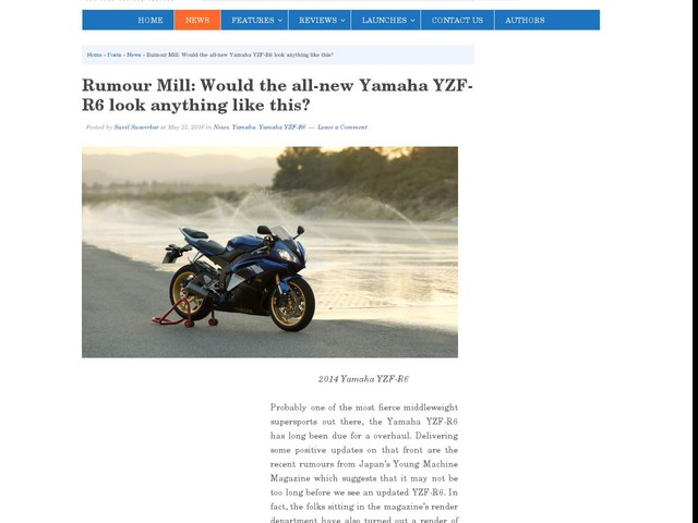 Rumour Mill: Would the all-new Yamaha YZF-R6 look anything like this?