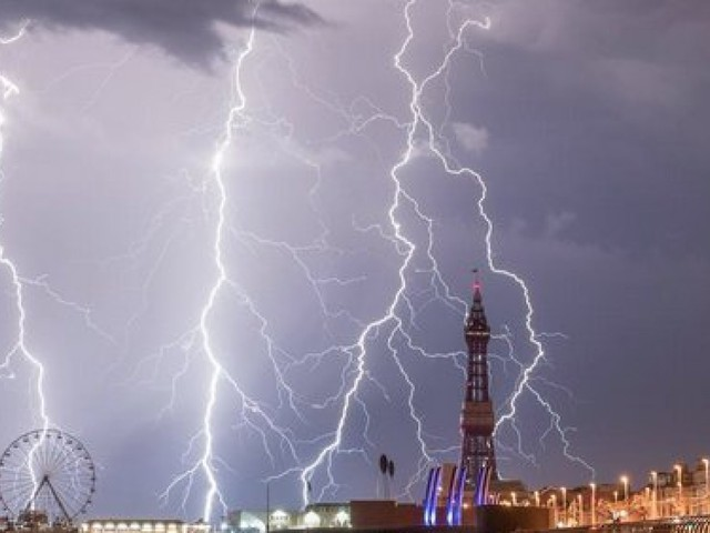 Spectacular Pictures Show Lightning Strikes Across UK, As Heatwave Gives Way To Downpours