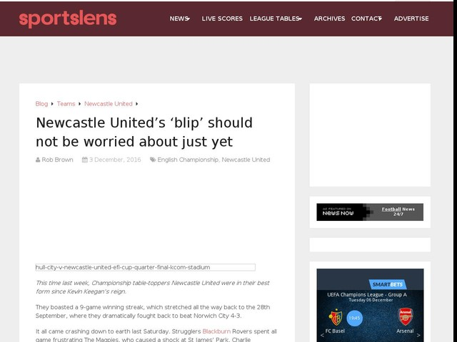 Newcastle United's 'blip' should not be worried about just yet