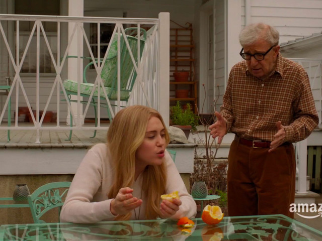 Miley Cyrus Comes Into Woody Allen's Life Like a Bewigged Wrecking Ball in the Trailer for His Amazon Series, Crisis in Six Scenes