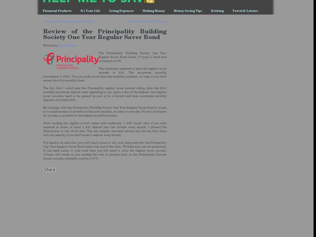 Principality Building Society  Year Fixed Rate Bond