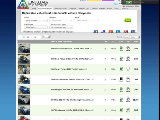 Repairable Salvage Cars For Sale Uk Gumtree