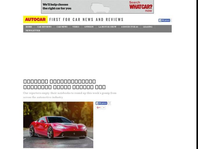 autocar new car release datesAutocar confidential Ferrari Audi Mazda Kia  Motors