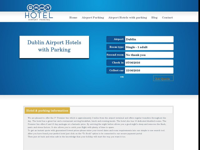 Dublin Airport Hotel And Parking Deals