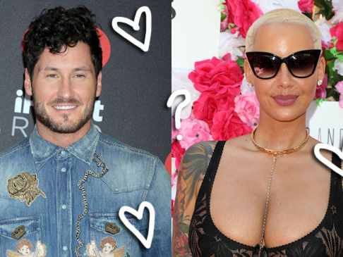 Amber Rose & DWTS Pro Val Chmerkovskiy Continue To Spark Relationship Rumors With 'Flirty' Date Night Out — Get The Deets!