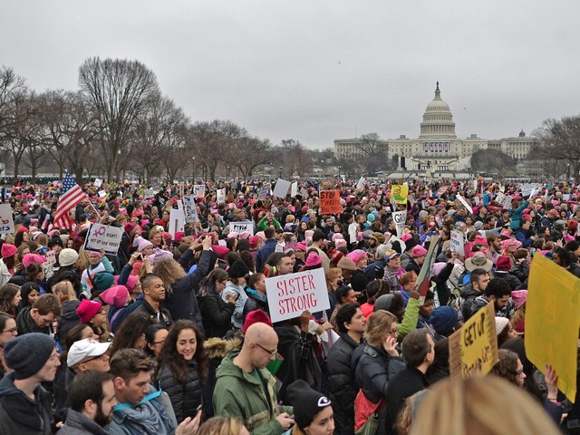 Was the Women's March Bigger Than the Inauguration? Let's Compare Images.