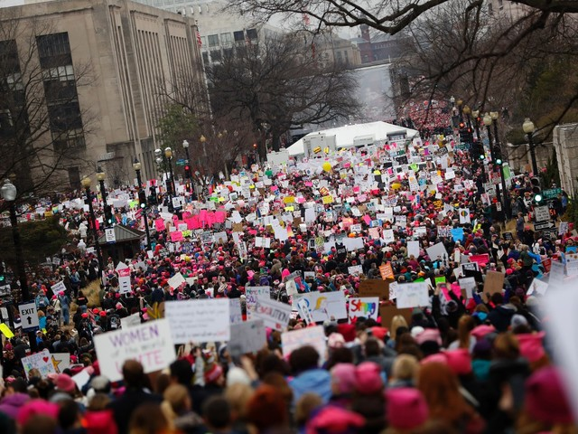 Women's March on Washington Beats Expectations: Half a Million Descend on Mall