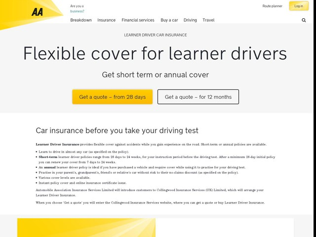 Learner Driver Insurance Own Car
