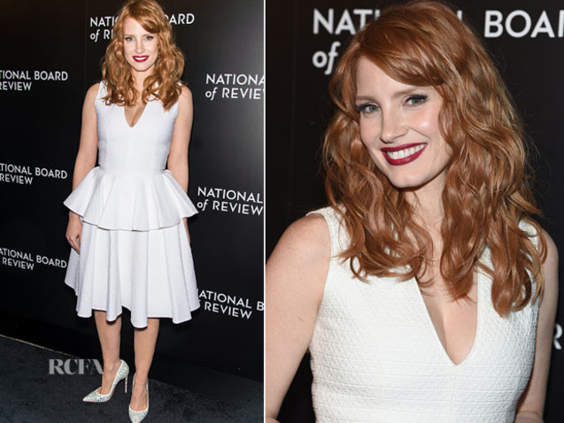 Jessica Chastain In Alexander McQueen – 2014 National Board of Review Gala