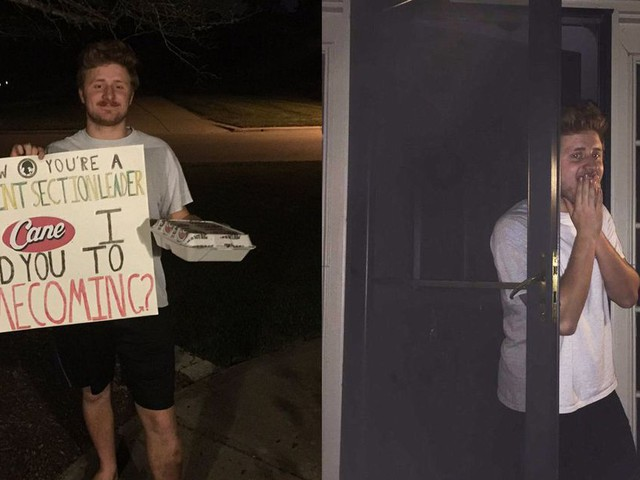 This teen couldn't find a date for homecoming so he decided to ask himself