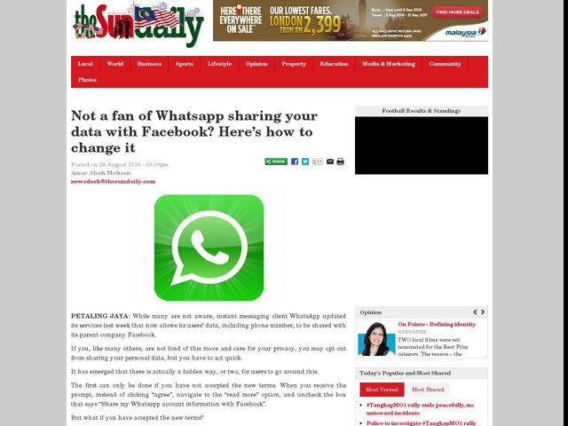 Not a fan of Whatsapp sharing your data with Facebook? Here's how to change it