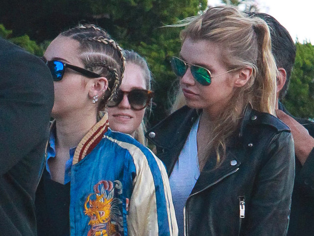 Miley Cyrus & Girlfriend Stella Maxwell Hold Hands at Dinner