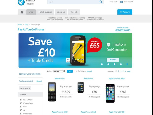 Compare pay as you go mobile phones - Confused.com