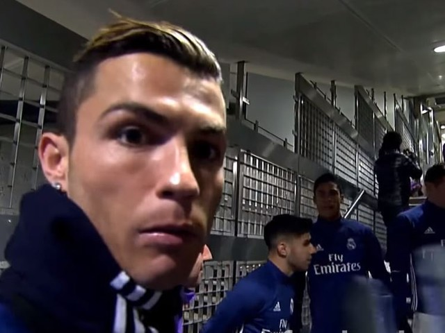 Cristiano Ronaldo caught imitating Luiz Felipe Scolari with Real Madrid team-mates