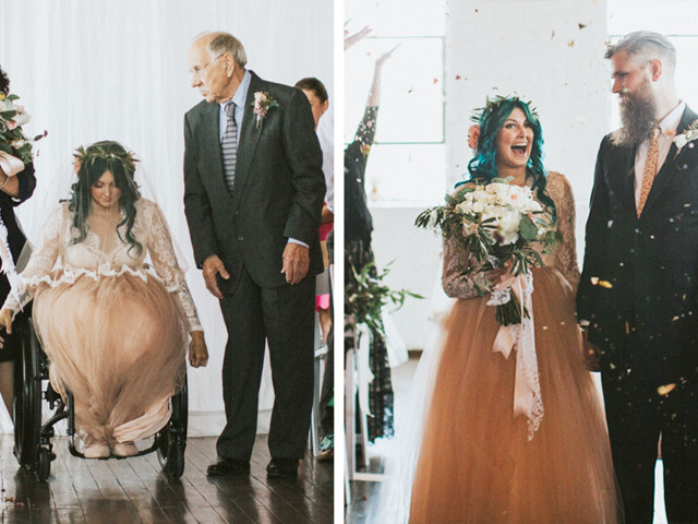 Paralyzed Woman Surprises Everyone When She Stands Up And Starts Walking Down The Aisle