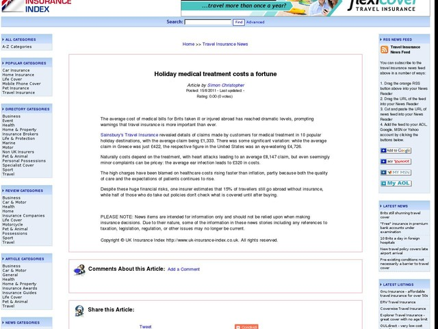 Travel Insurance Policy Richmond Vaus