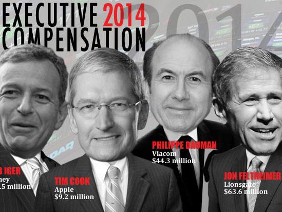 Hollywood Executive Pay 2014: Jon Feltheimer Soars, Sumner Redstone Sinks, Bob Iger Up