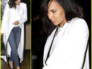 Naya Rivera & Ryan Dorsey Have Double Date Night With Friends