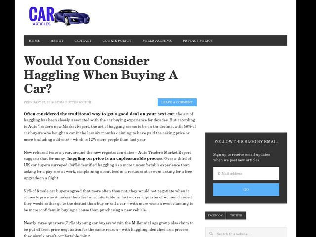 Haggling For Car Insurance