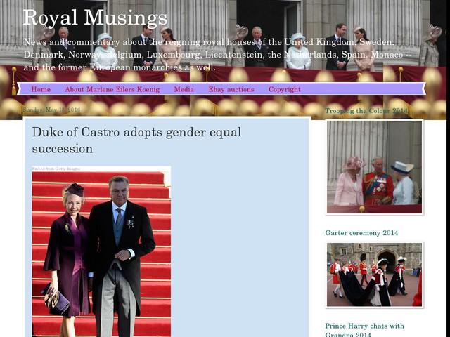 Duke of Castro adopts gender equal succession