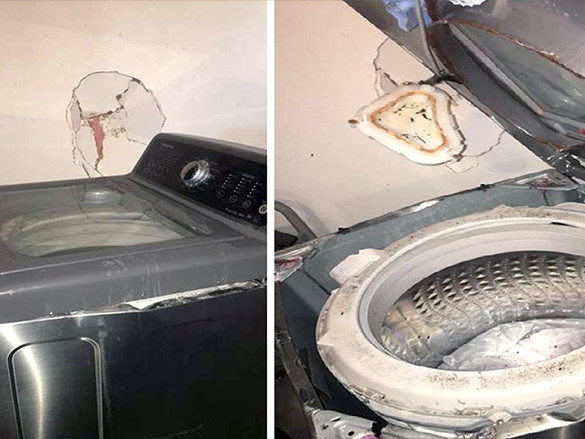 Samsung washing machines reportedly exploding