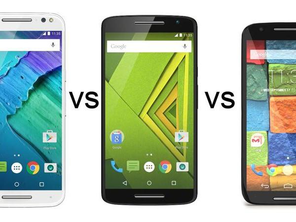 Moto X Style vs Moto X Play vs Moto X (2014)