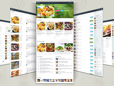 Gustos - Community-Driven Recipes, WordPress Theme (Food)