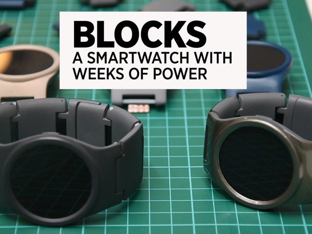 Blocks: The Smartwatch With Weeks Of Power