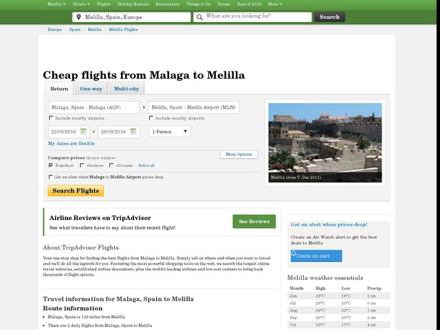 flights from malaga spain: