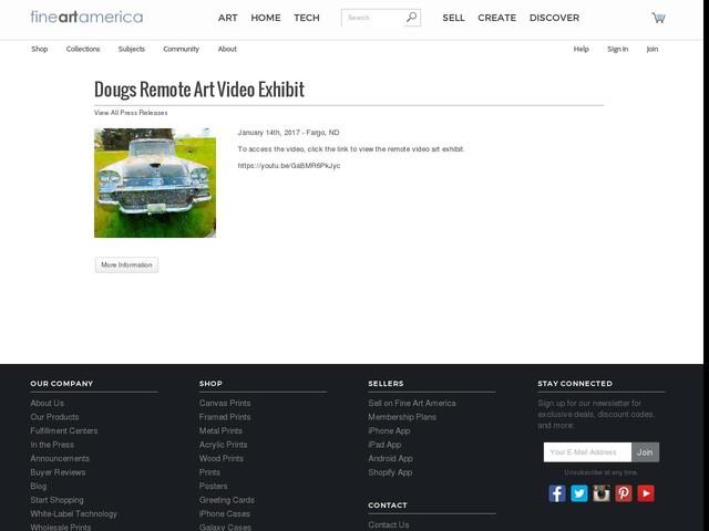 Dougs Remote Art Video Exhibit