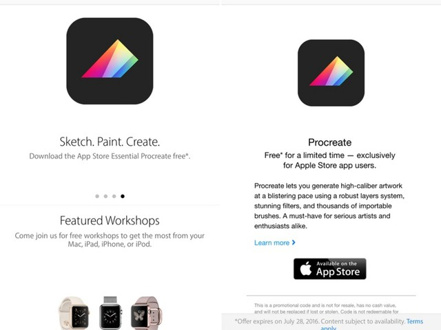 Drawing App 'Procreate Pocket' Available for Free Through Apple Store App