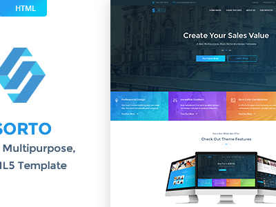 Sorto - Multipurpose HTML5 Template (Corporate)