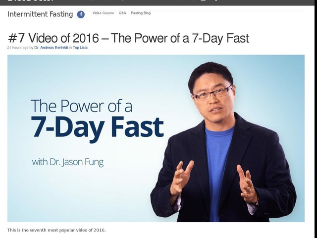 #7 Video of 2016 – The Power of a 7-Day Fast