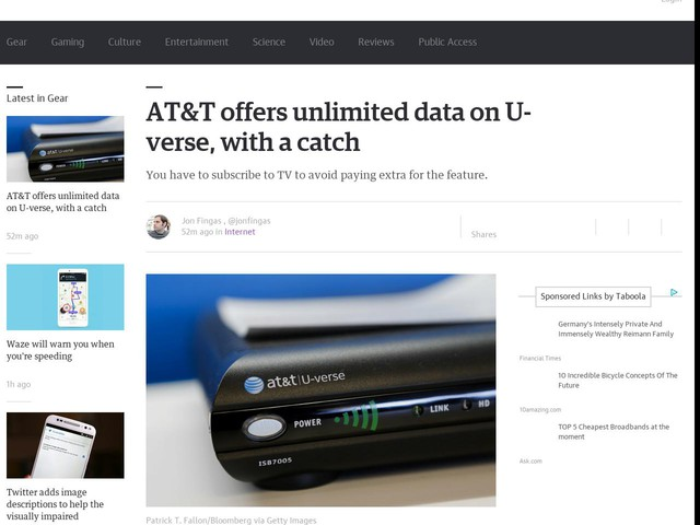 AT&T offers unlimited data on U-verse, with a catch
