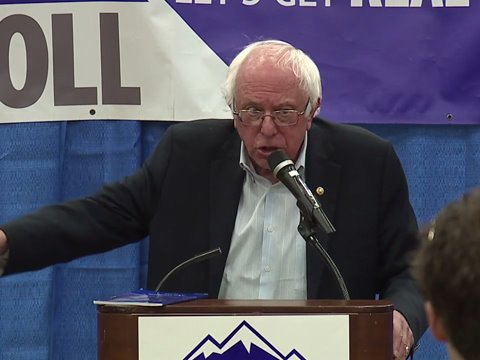 Bernie Sanders holds rally for Carroll, Clinton in Highlands Ranch