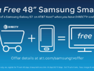 "Get a Free 48"" Samsung Smart TV when You Buy a Samsung Galaxy S7 or Galaxy S7 edge on AT&T NextTM"
