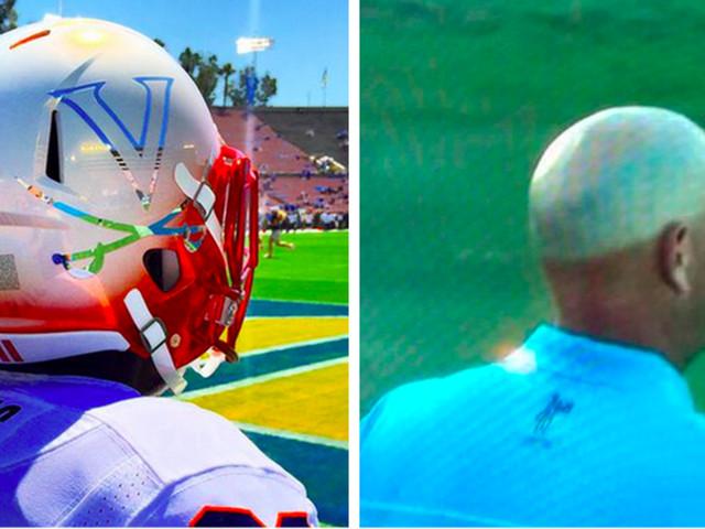 Virginia's new helmets look like Golf Hat Sunburn Tanline